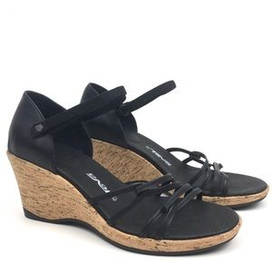 Teva strappy wedge heel sandal riviera leather